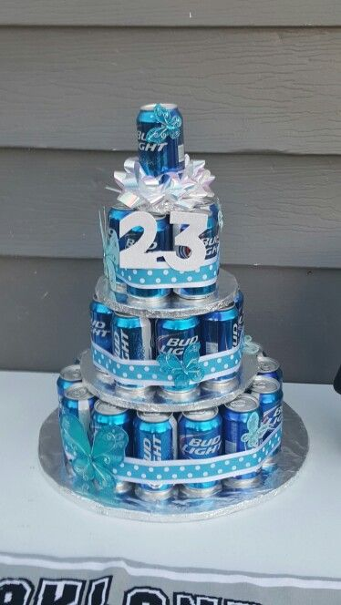 Bud light beer cake! | Beer Cakes | Beer can cakes, Cake, Cake in a can
