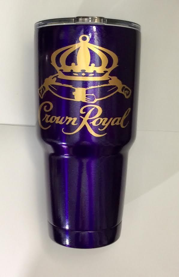 NEW Set of 2 Crown Royal Thick Purple Plastic Cup Drinking Glass