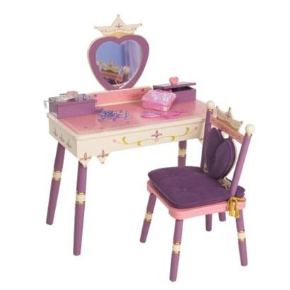 Kidkraft Princess Vanity Table and Chair Set PinkPurple Arts