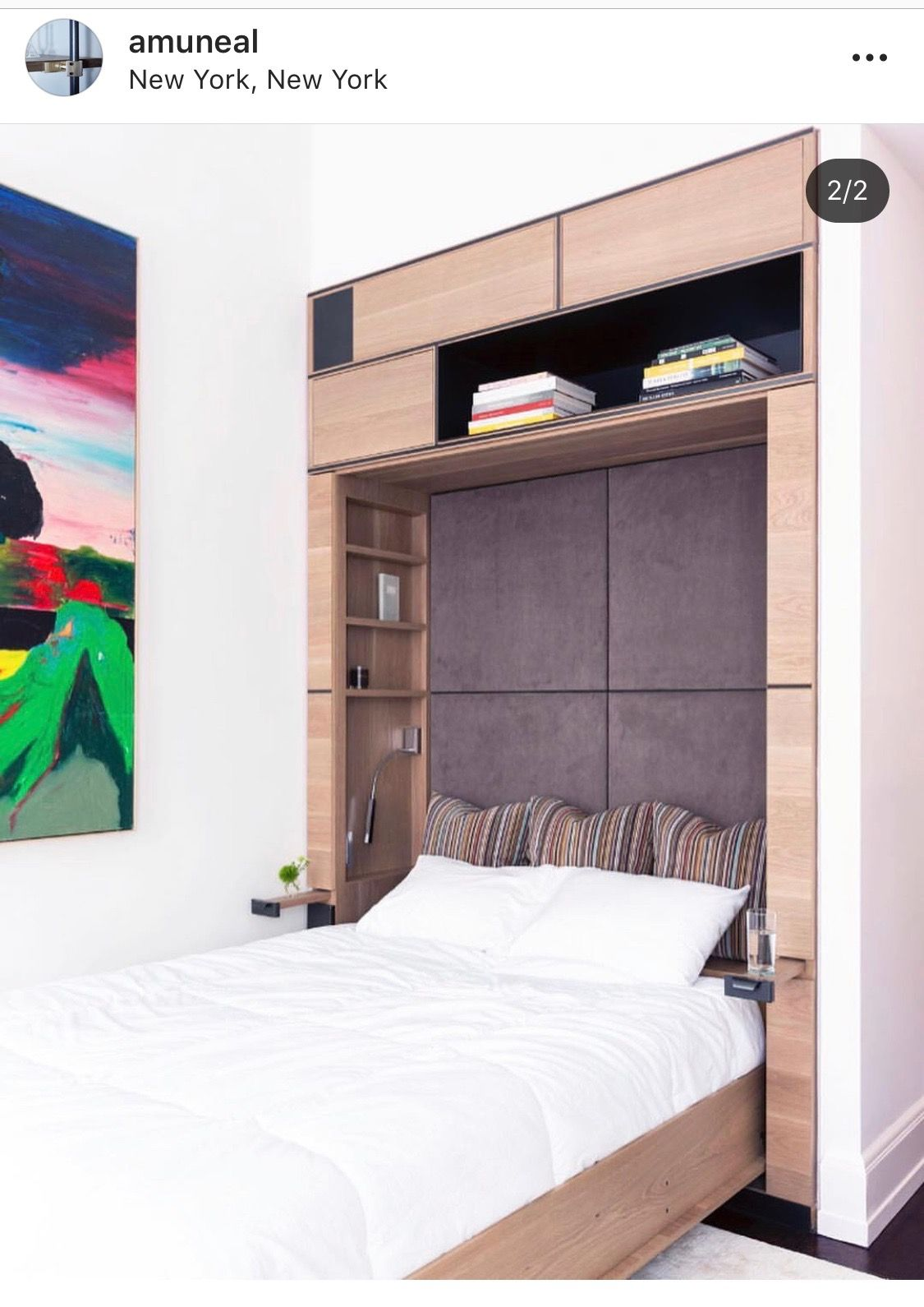 Murphy bed Murphy bed, Bed, Upholstered headboard