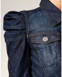 1723a12995f47 Miss sixty Puff Sleeve Denim Jacket in Blue (denim)