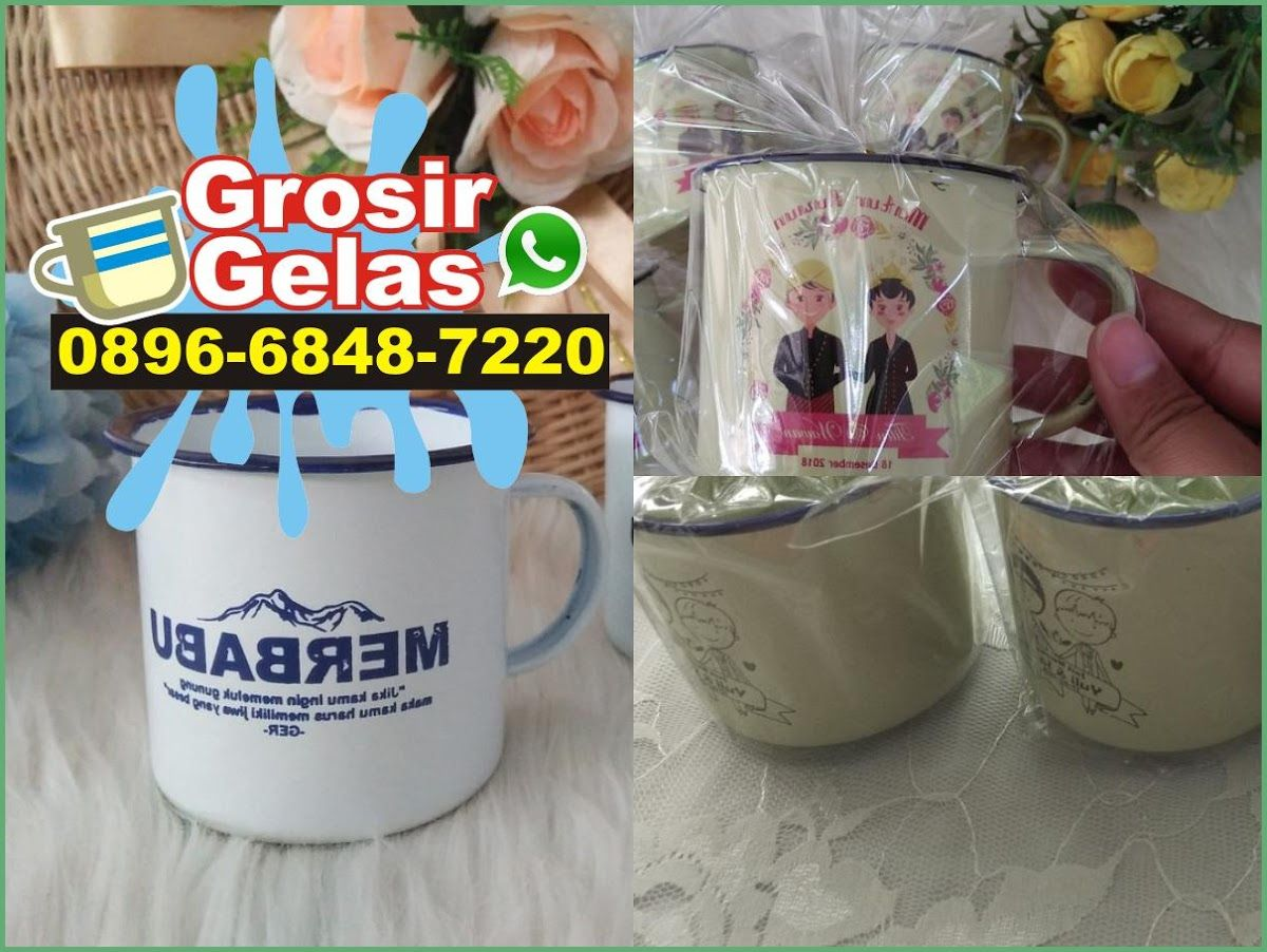 Enamel Coffee Mug Set 089668487220 (WA) di 2020 Gelas