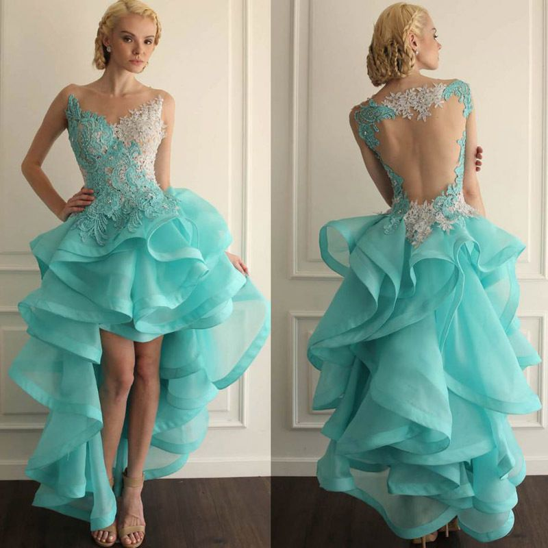 Front Short Long Lace wedding dress bridal gown custom size 6 8 10 ...