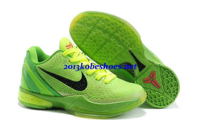 Nike Zoom Kobe 6 Kids Grinch Christmas Volt Green DS