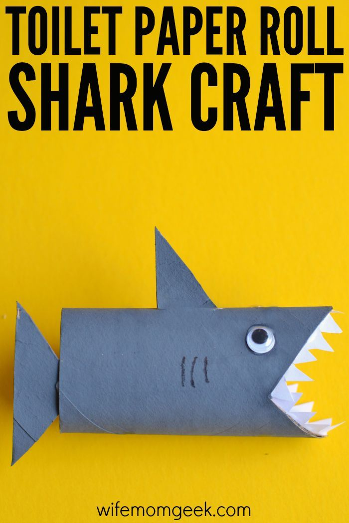 Fun DIY Alert Shark Toilet Paper Roll Craft