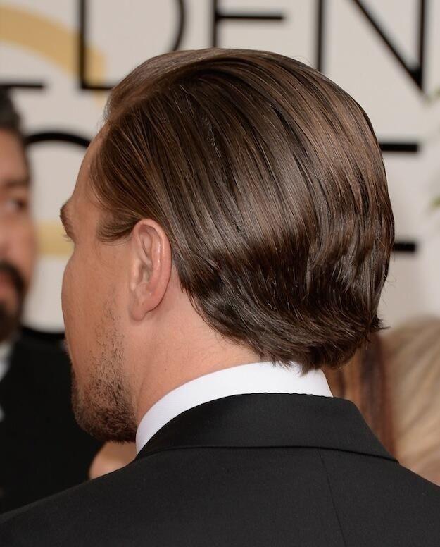 The Back Of Leonardo Dicaprio S Head Hair Loss Remedies Leonardo Dicaprio Hair Gel
