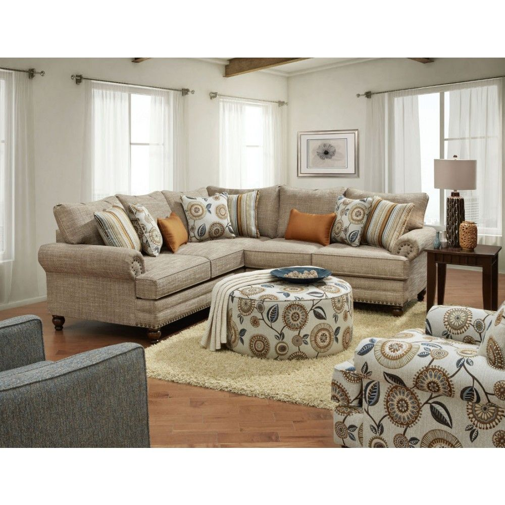 Fusion Furniture The 2826KP Botega Oatmeal Sectional