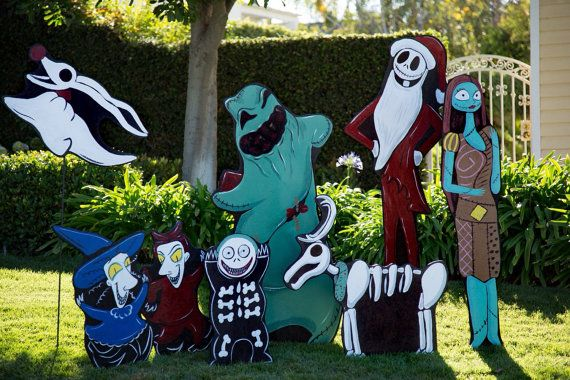 nbc wood cut outs httpswwwetsycomlisting474053230christmas edition nightmare before
