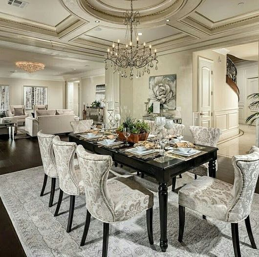 Interior design inspirations for your luxury dining room for Mobilia kitchen table