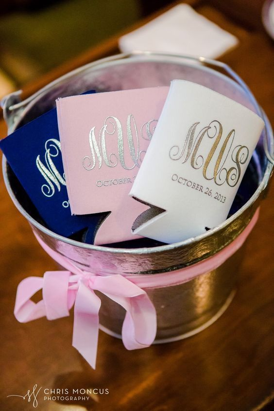 Pink and Gold Wedding Favors