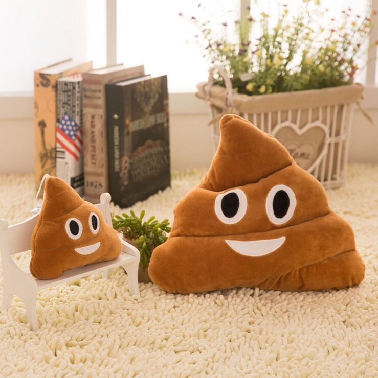 Emoji Poop Solar Powered Waving Toy Gift Home Decor USA Seller