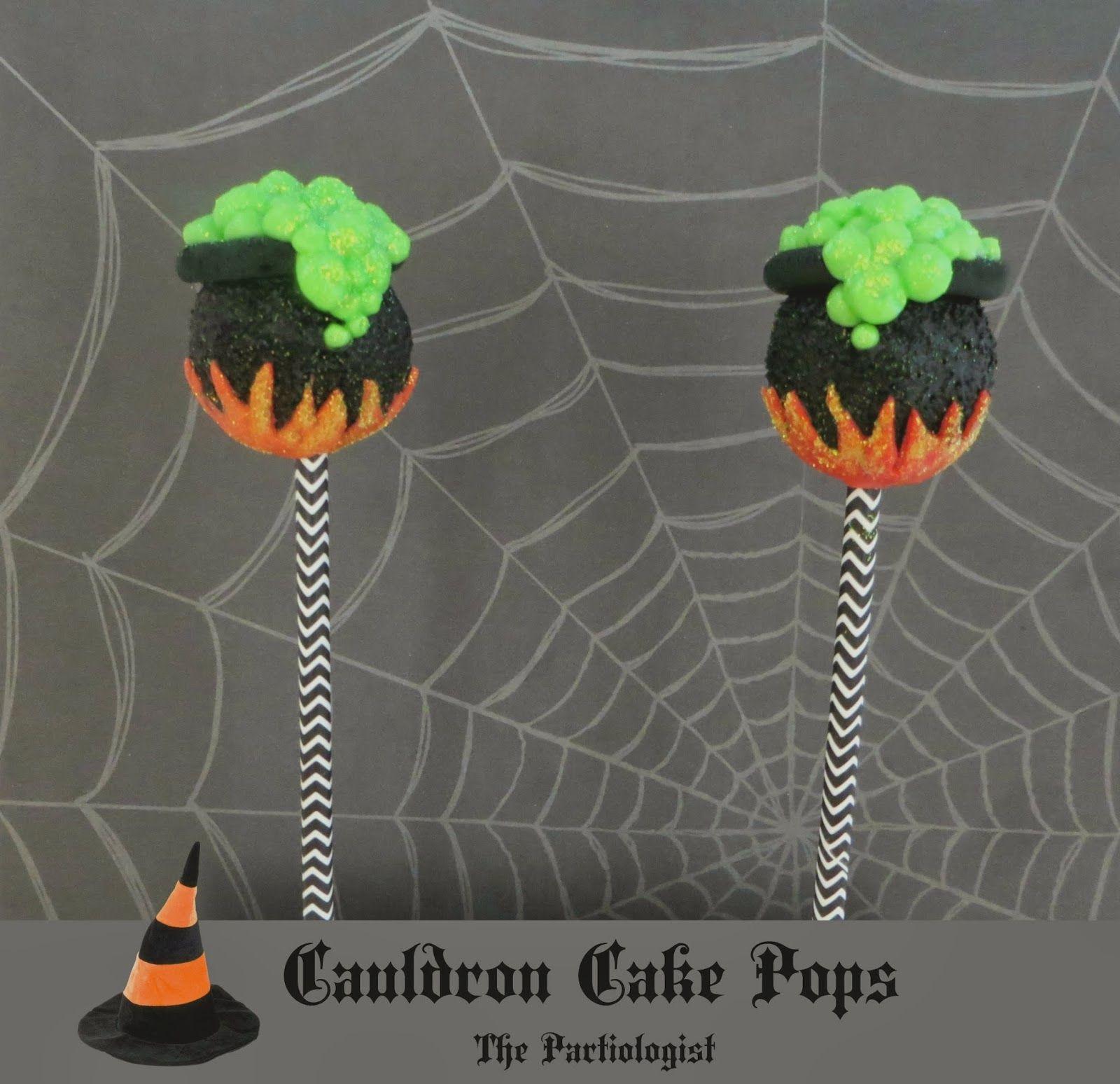 Cauldron Cake Pops! Halloween kuchen, Kuchenlolli und