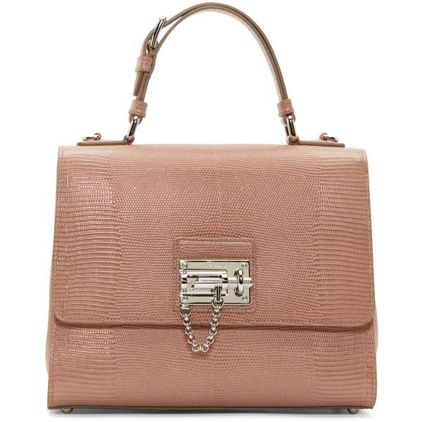 Dolce And Gabbana Blush Iguana Medium Monica Bag 1 990 Liked On Polyvore Featuring Bags Handbags Shoulder Real Leather Purses Beige