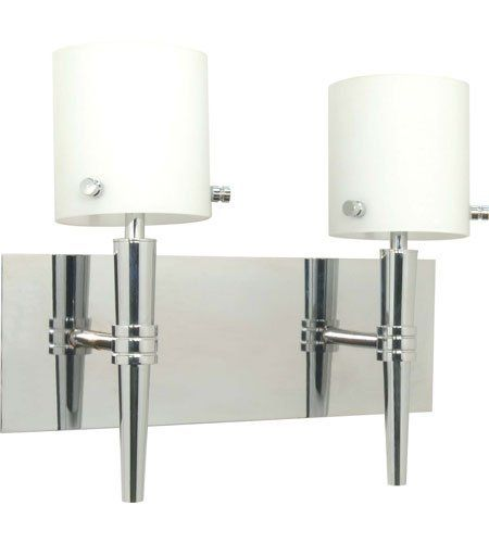 Nuvo 60/1072 Jet 2 Light Bathroom Vanity Lights in Polished Chrome by Nuvo. $145.99. Like its namesake - Jet is sleek, smooth and shiny. This retro modern collection offers a refreshing clean look. Jet''s style may be retro, its light source is not. This entire family features G9 base halogen lamps. The Jet collection is beautifully finished in Polished Chrome and features White Opal glass.