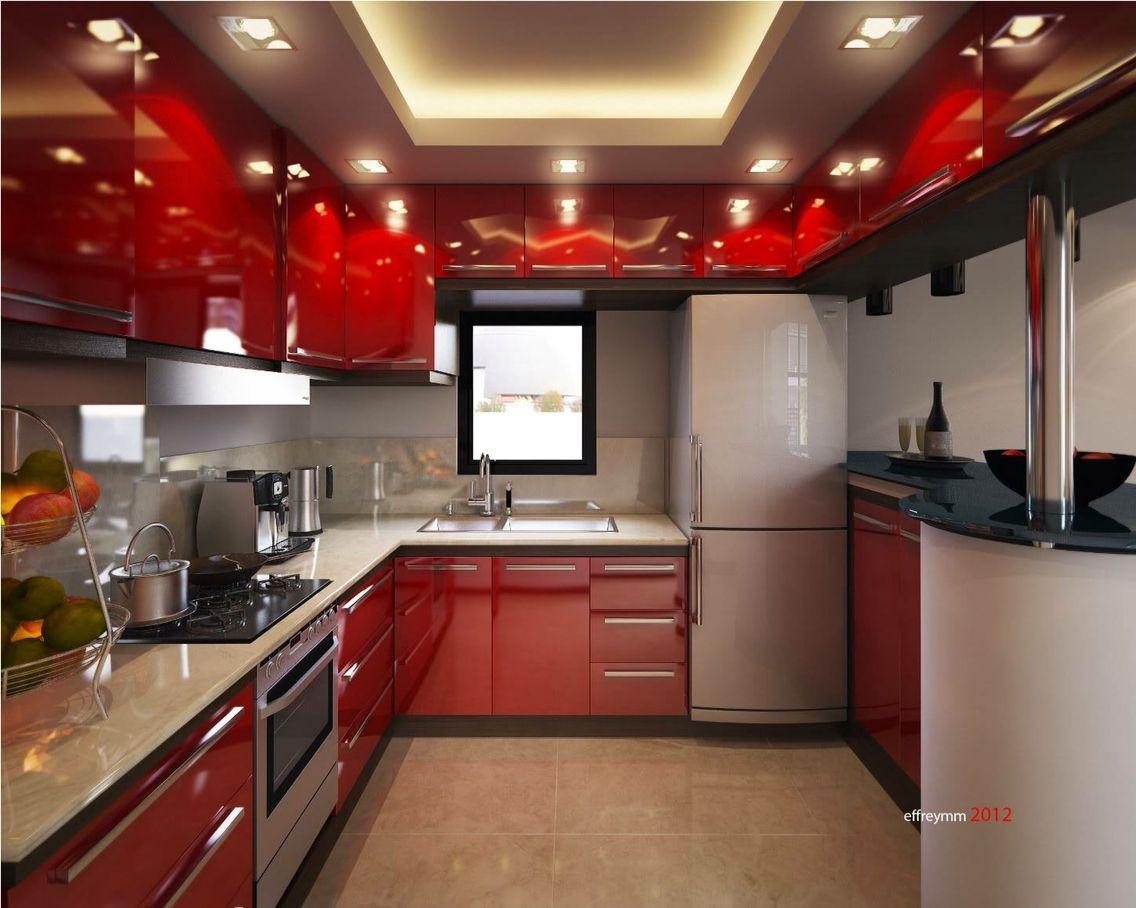Cocina Moderna Roja Con Imagenes Decoracion De Cocina Cocinas