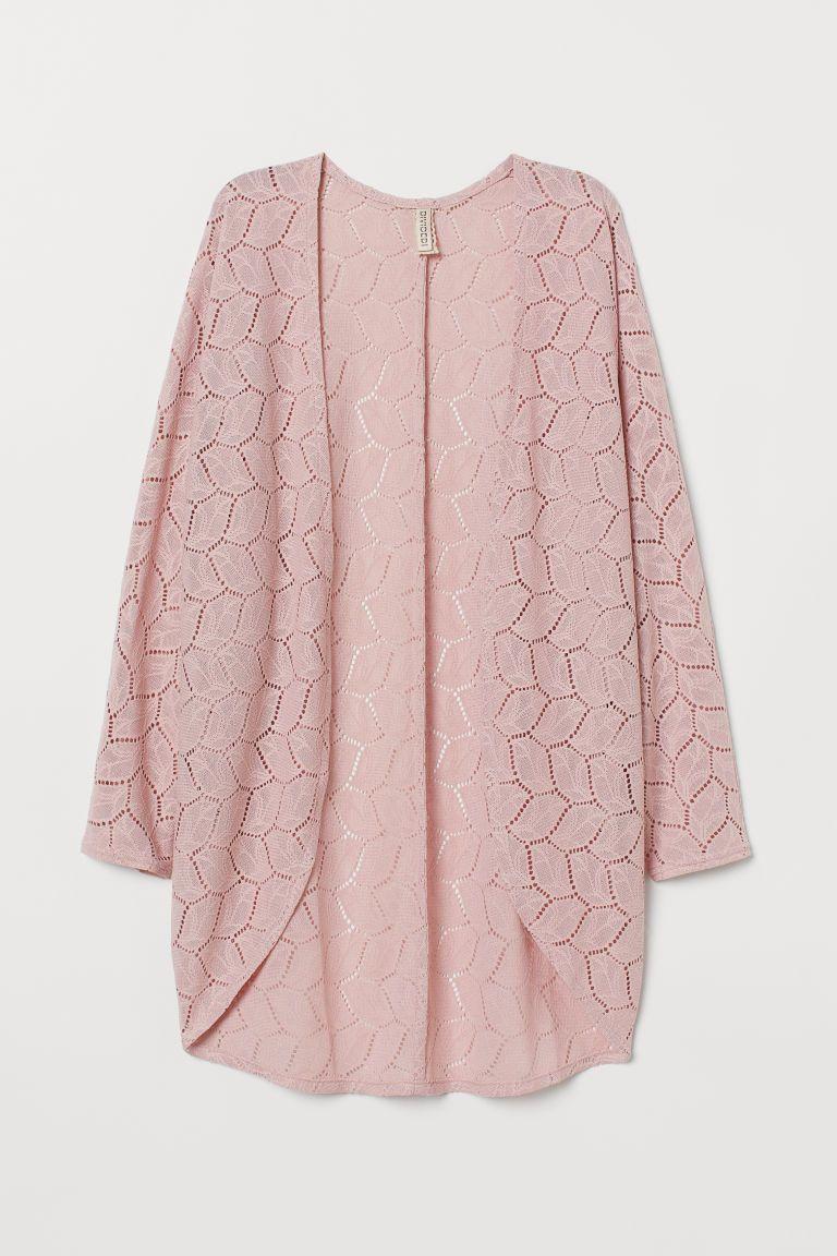 03ca1c160 H&M Lace Cardigan - Pink in 2019 | Dream Closet | Lace cardigan ...