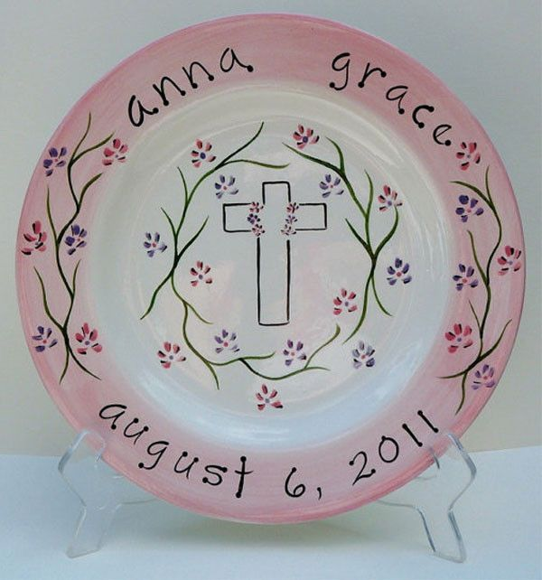 Personalized Christening or Baptism Plate   Christening