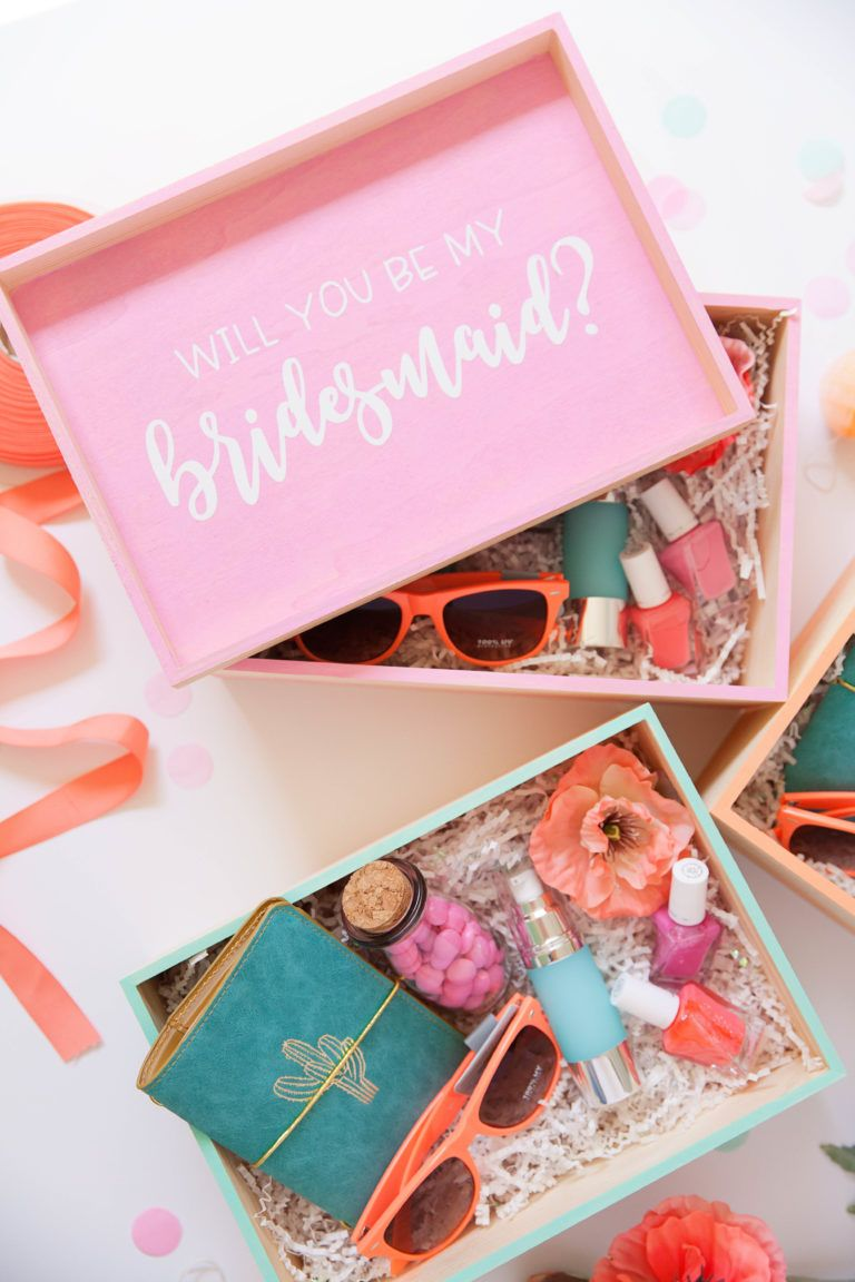 Diy bridesmaid gift boxes brautjungfern geschenke
