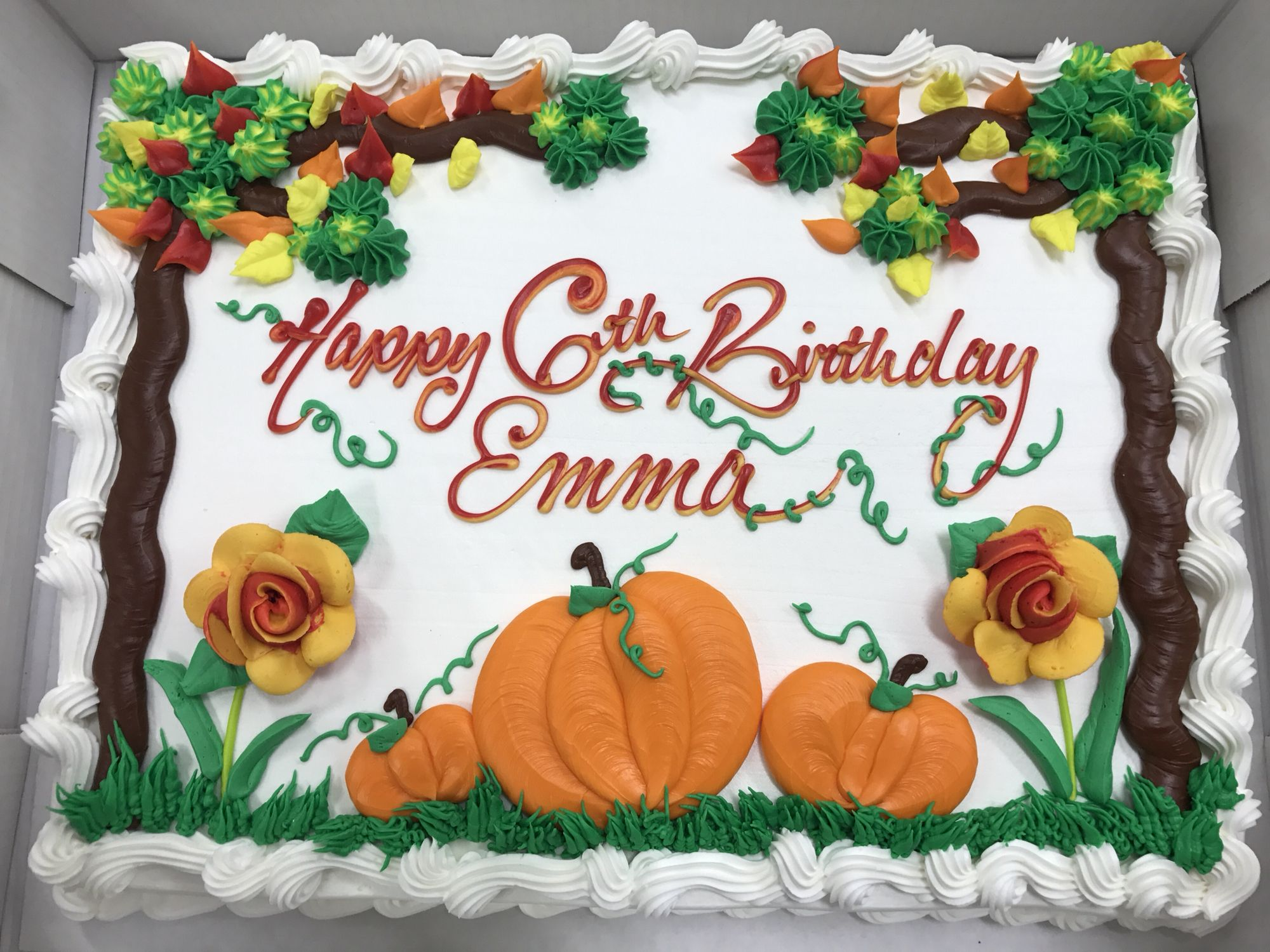 Fantastic Pumpkin Patch Cake Birthday Sheet Cakes Pumpkin Birthday Cakes Funny Birthday Cards Online Alyptdamsfinfo