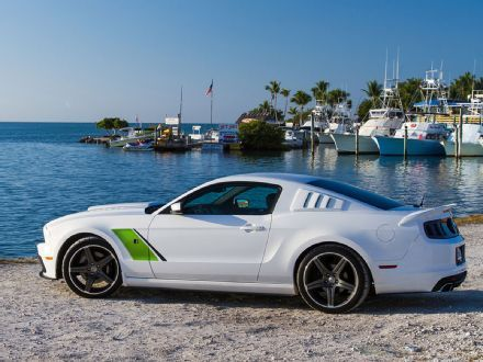 2014 Roush Stage 3 Ford Mustang White Side Ford Mustang Mustang Roush Mustang