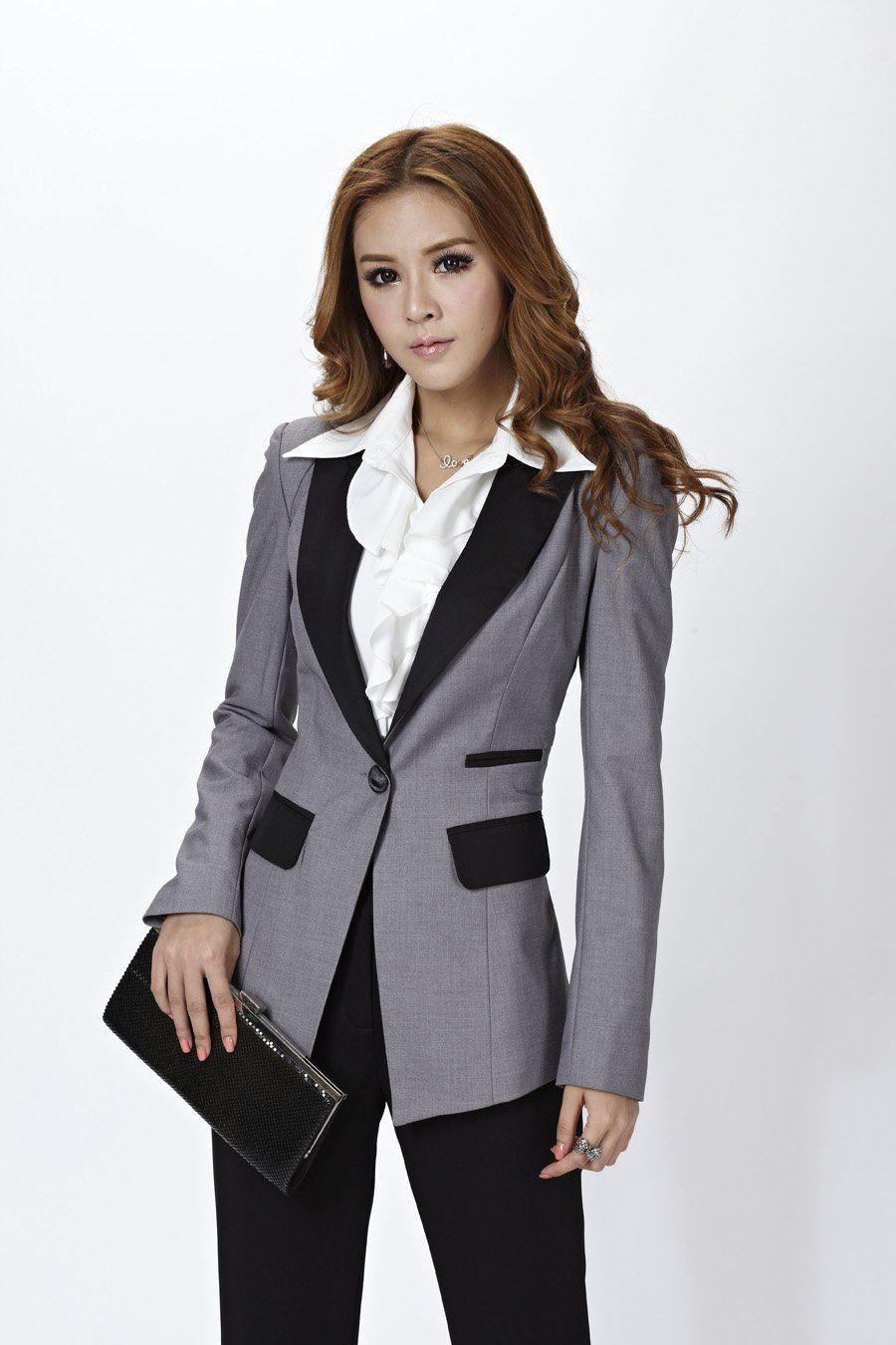 Ladies Pant Suits | 2013 New Women Suits Blazer U0026 Pants For OL Office Ladies Professional ...