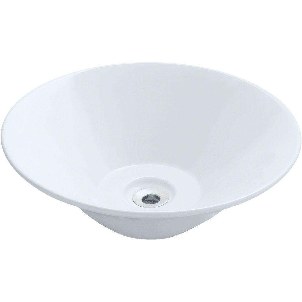 Porcelain Vessel Sink 16 1 2 Round Polaris P022 Vessel Sink