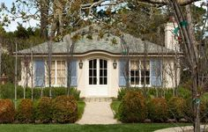 French Exterior One Level Home French Country House Plans French Country House Ranch House Designs