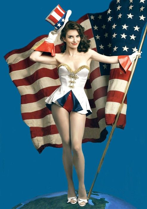 Tina Fey Patriotic Pinup - Salute Our Veterans by Supporting the Businesses of www.VeteransDirectory.com and Hiring Veterans. Post Jobs at www.HireAVeteran.com