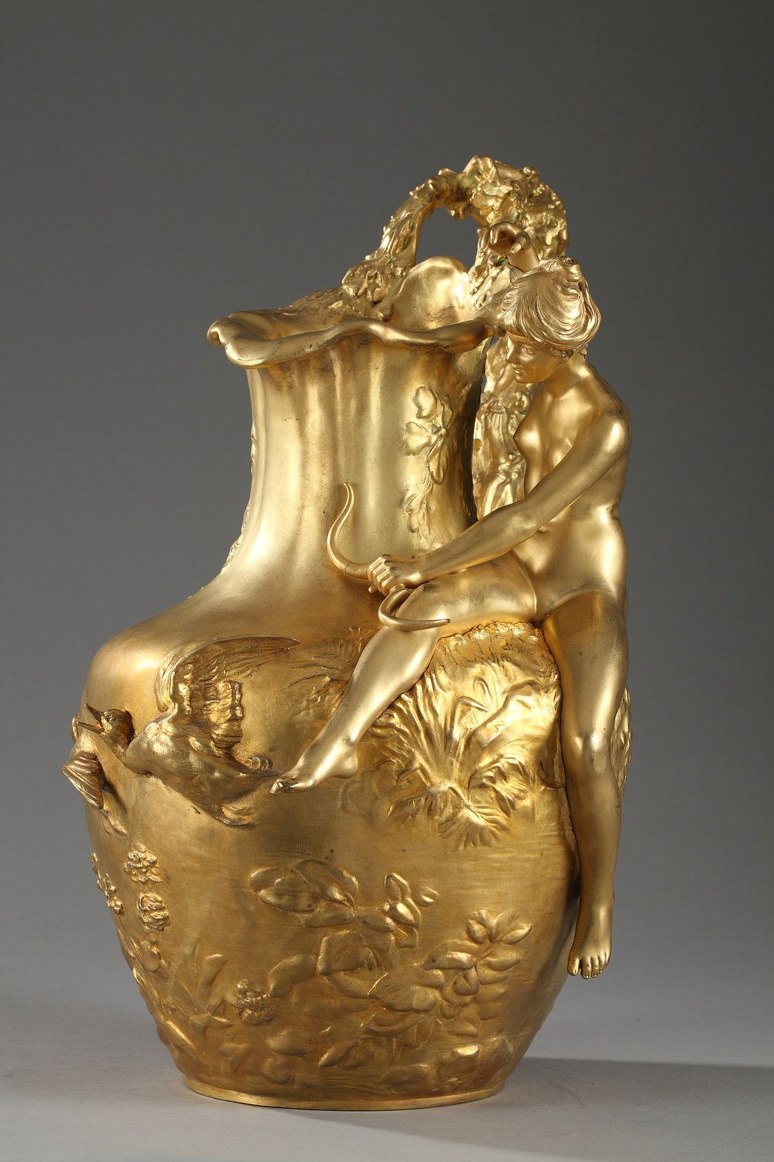 Art nouveau jug by alexandre vibert 1847 1909