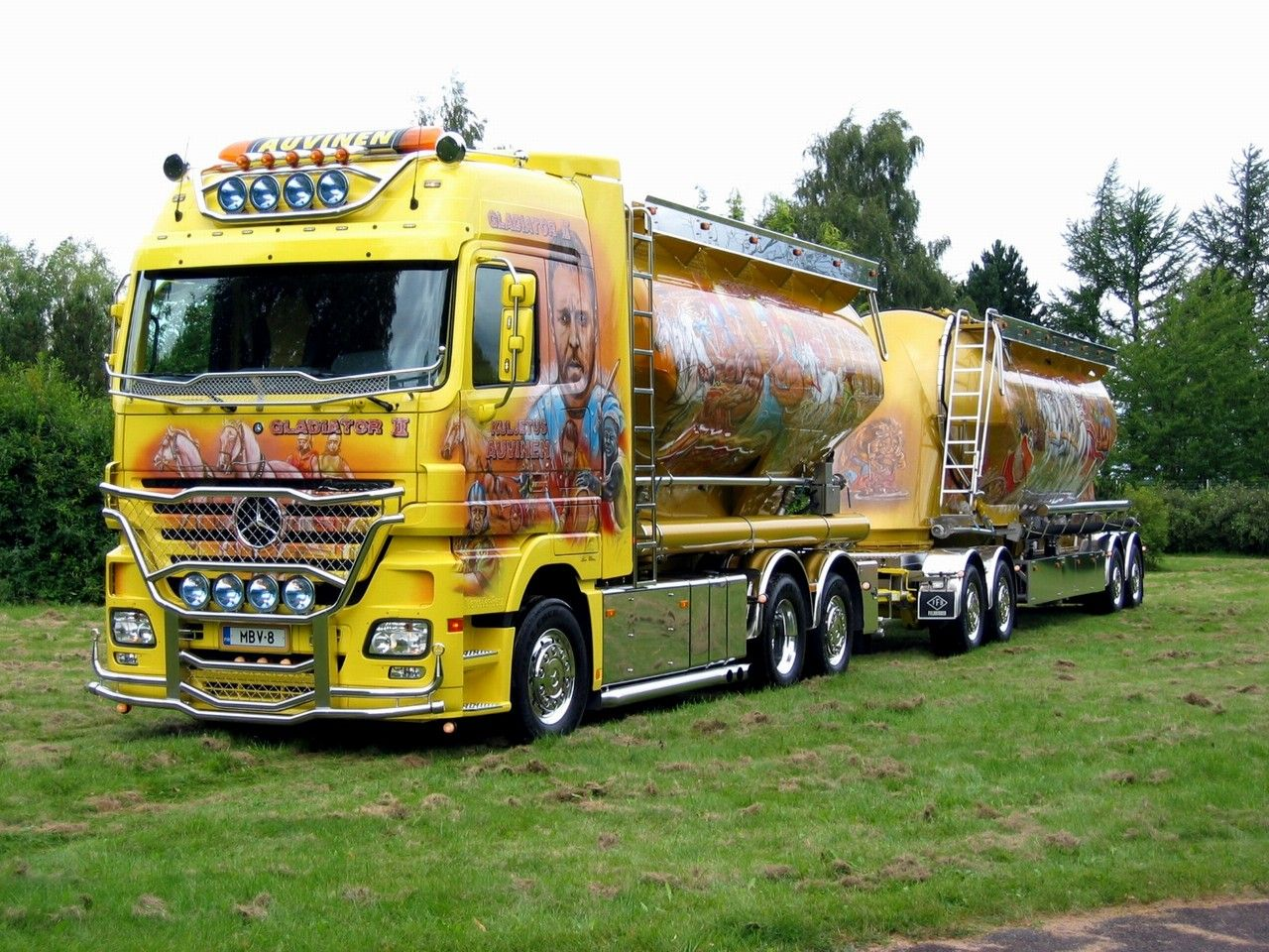 European big trucks auvinen mercedes actros gladiator 2 for European motors des moines iowa