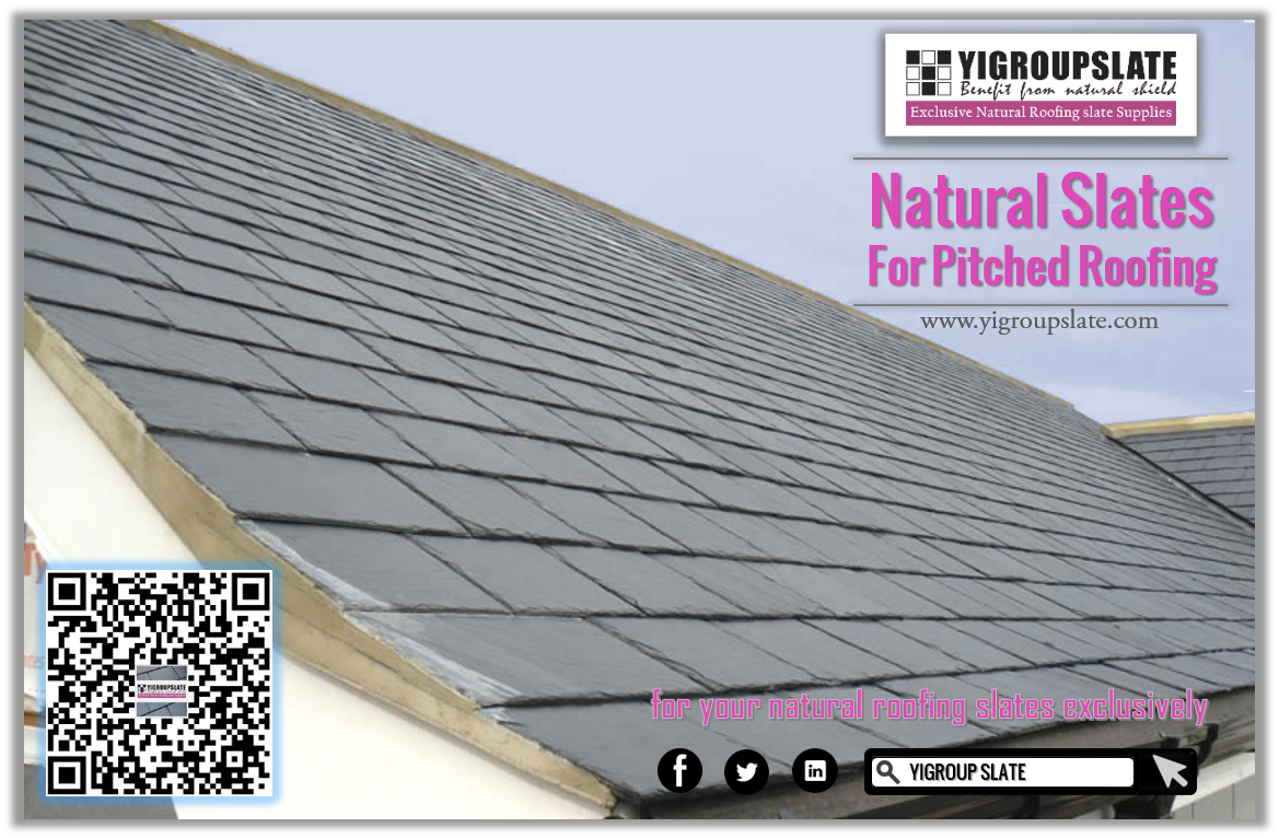 Natural Roofing Slates Are Always One Of Best Choices For Pitched Roofs Yigroup Slate Is Keeping On To Provide High Quality Na Roofing Pitched Roof Slate Roof
