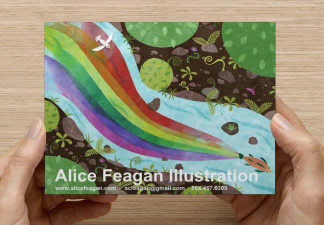 Postcard promo for Illustrator Alice Feagan Illustration