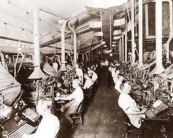 New York Herald Press Room Composing And Linotype Machines Newspaper PrintingPhoto LibraryInteresting HistoryAncient
