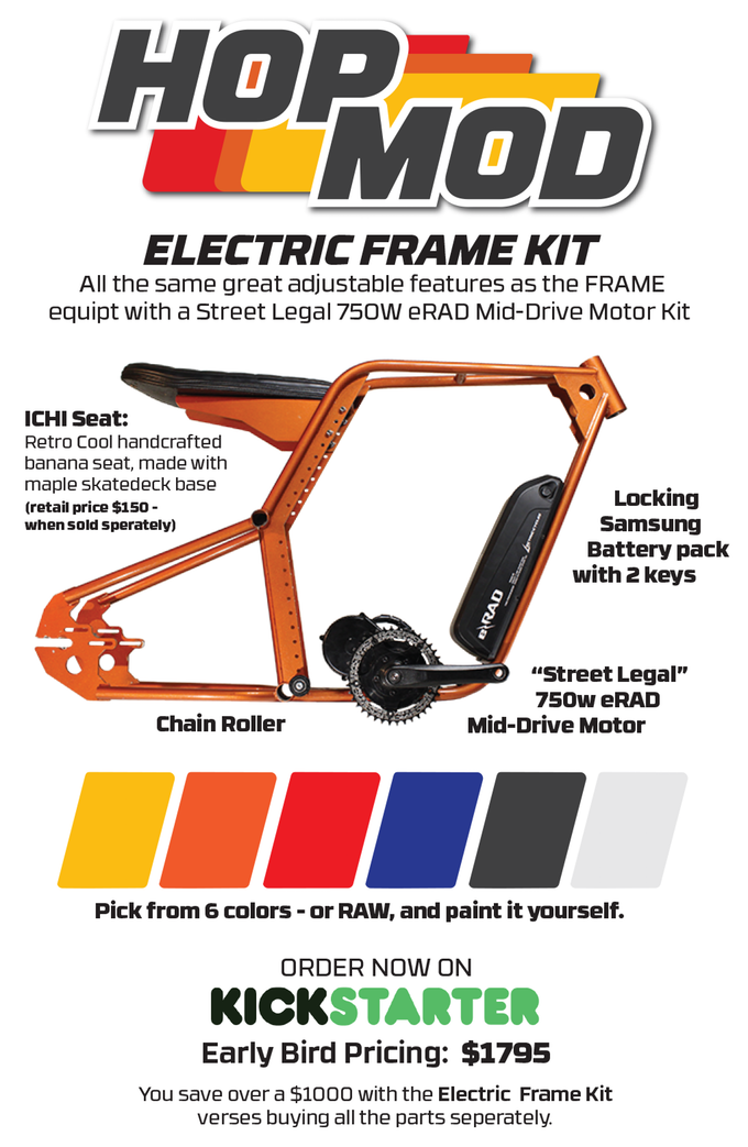 Retro 70 S Style Electric Bike Frame Kit Inspired By The Bmx