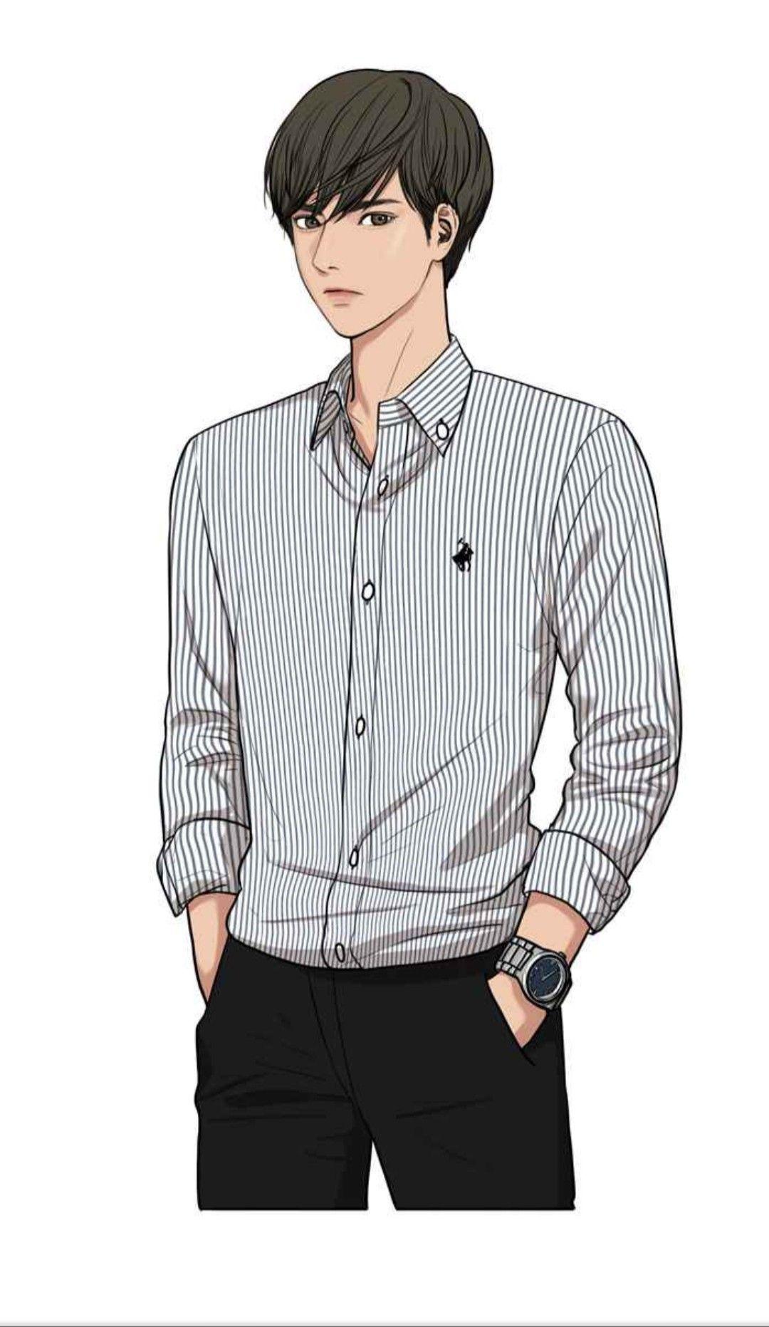 Pin oleh Wiji di webtoon Orang animasi, Gambar wajah