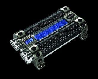 Boss CAP8 8 Farad Car Audio Power Capacitor Digital Voltage Meter//LED Light Show