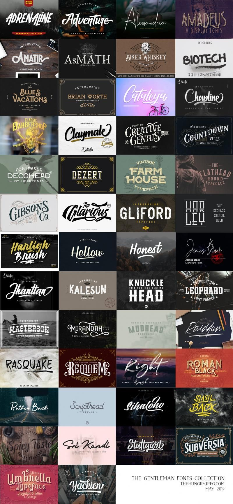 The Gentleman Fonts Collection Fonts Masculine Font Typeface