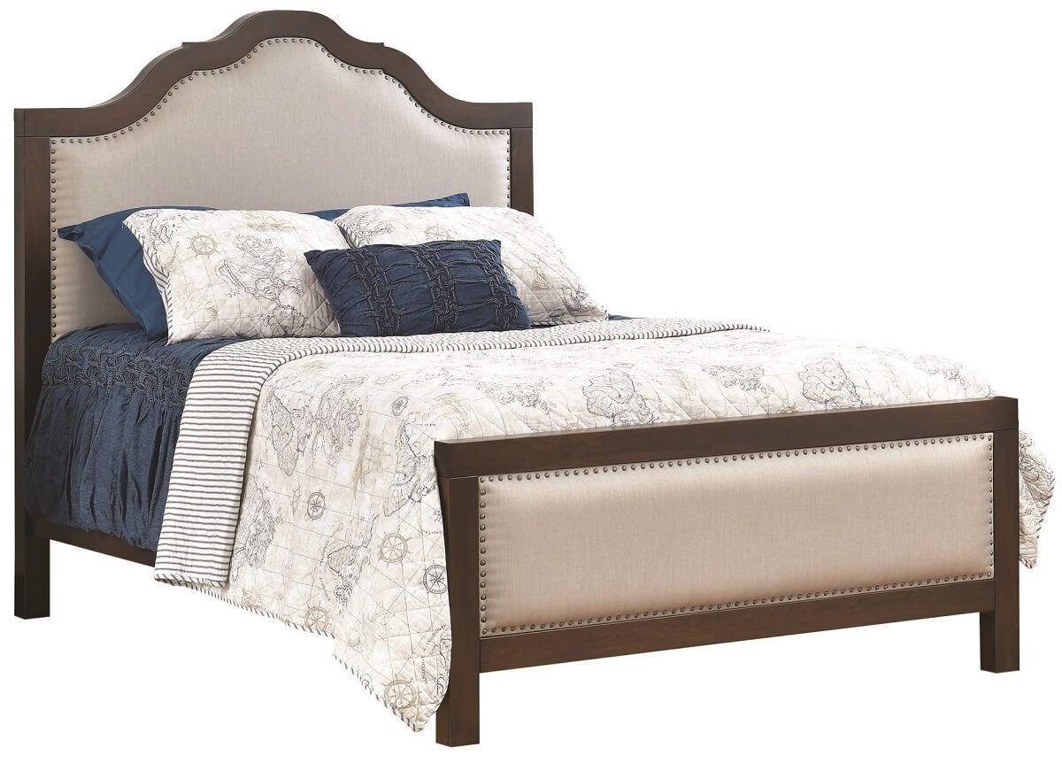 Upholstered Headboard Wood Trim Upholstered Headboard Panel Headboard Liberty Furniture