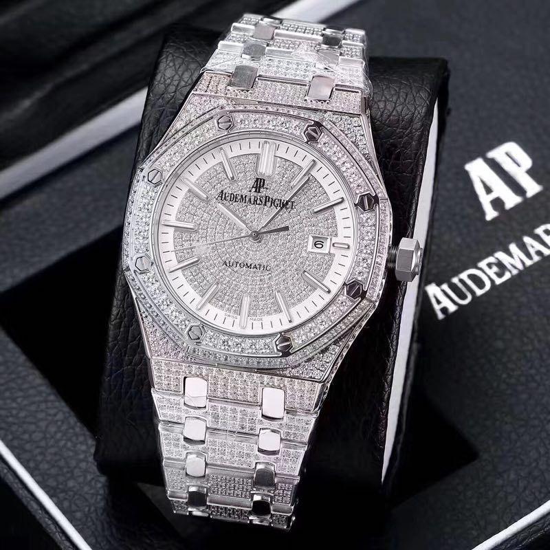 Audemars Piguet Royal Oak Iced Out With Diamond Watch