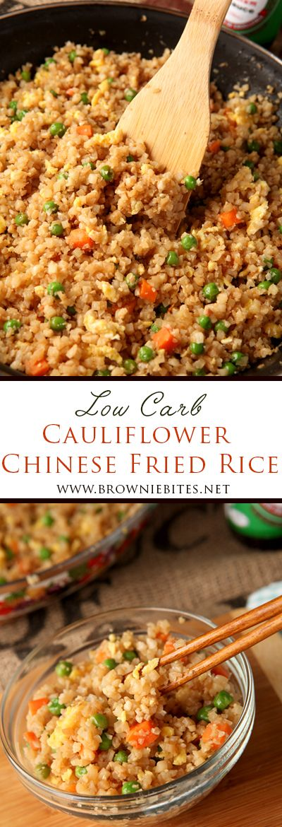 Low Carb Cauliflower Chinese Fried Rice #nocarbdiets