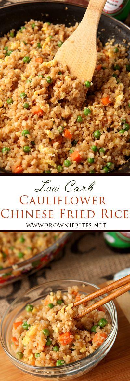 Low Carb Cauliflower Chinese Fried Rice - Brownie Bites Blog