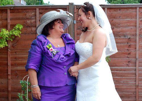 Jun 20 2009 Bride and Mum#wedding #dress