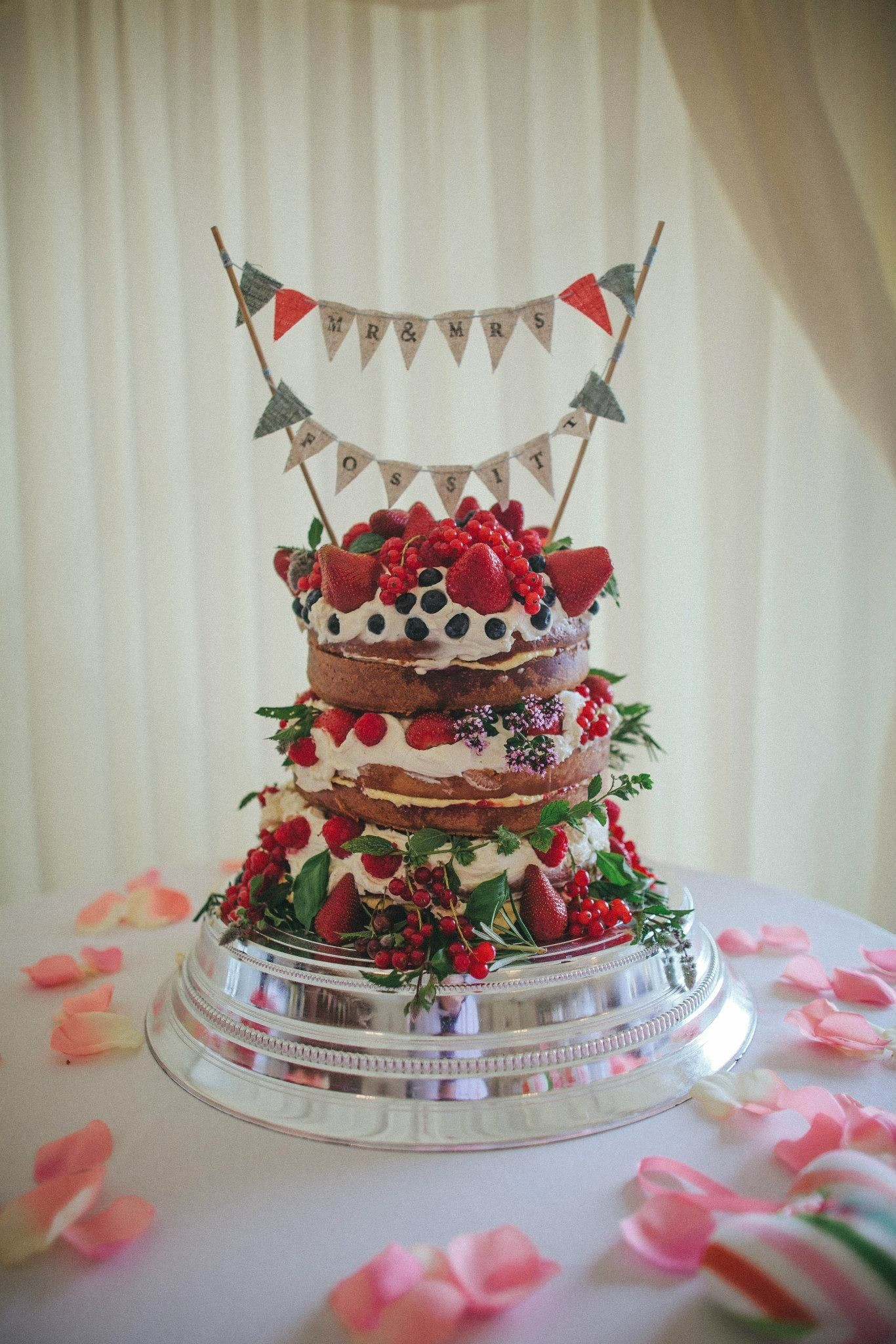 Vintage Victoria Sponge Wedding Cake