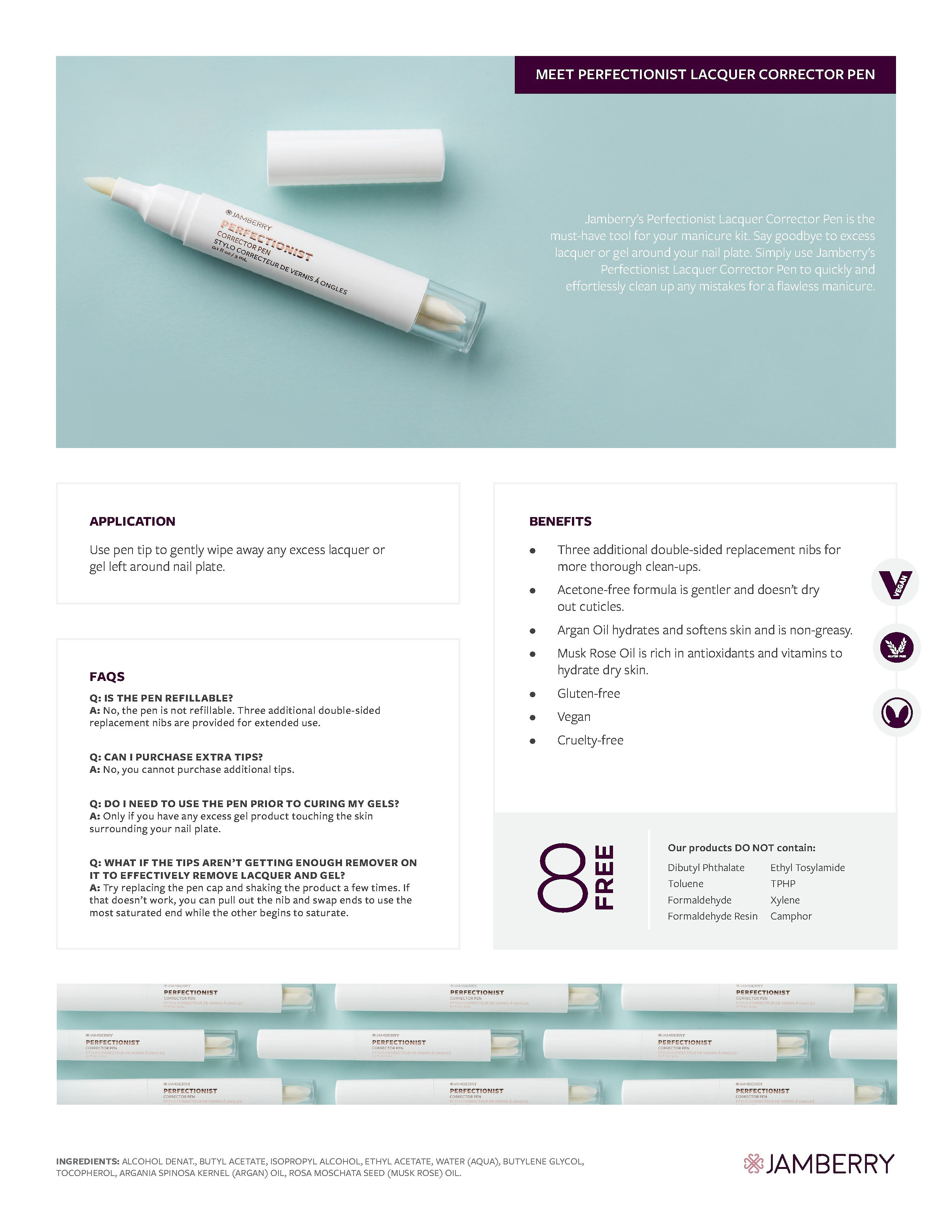 Perfectionist Corrector Pen Info   Jamberry - Nail, Hand & Foot Care ...
