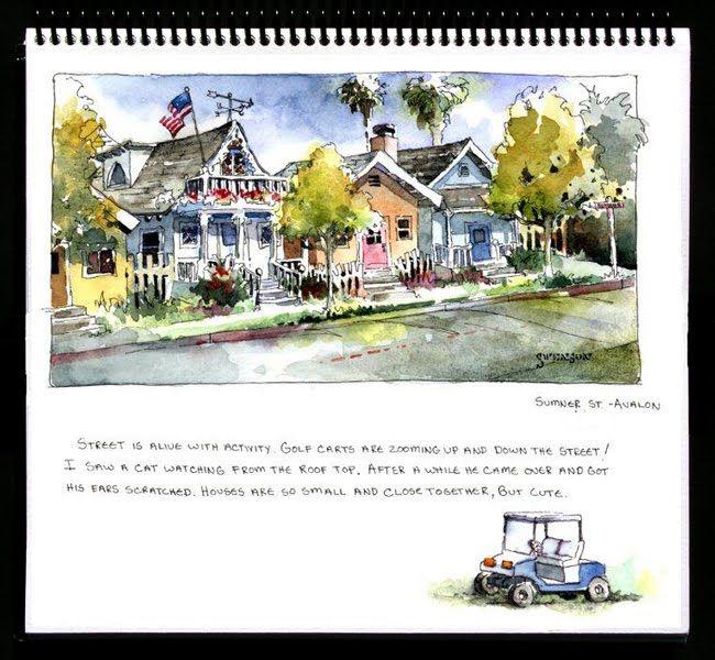 love watercolor journaling Brenda Swenson