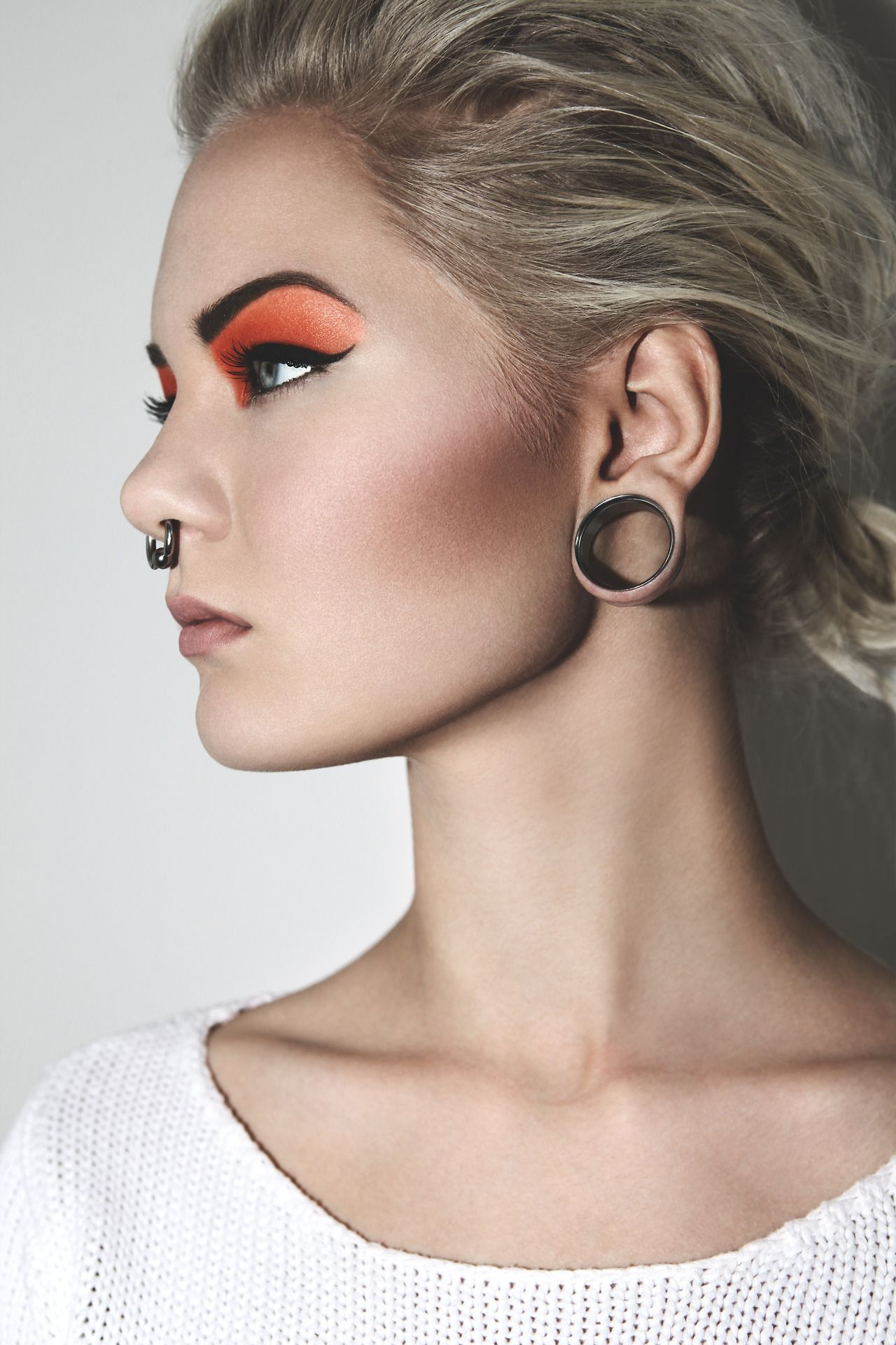Labret Style Nose Ring