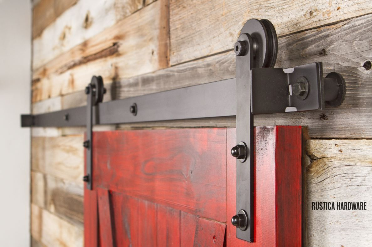This is a great color combination. http://rusticahardware.com/nylon-barn-door-hardware/