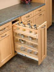 Spice Rack pull-out - spice storage, adjustable shelves, cooling oil ...
