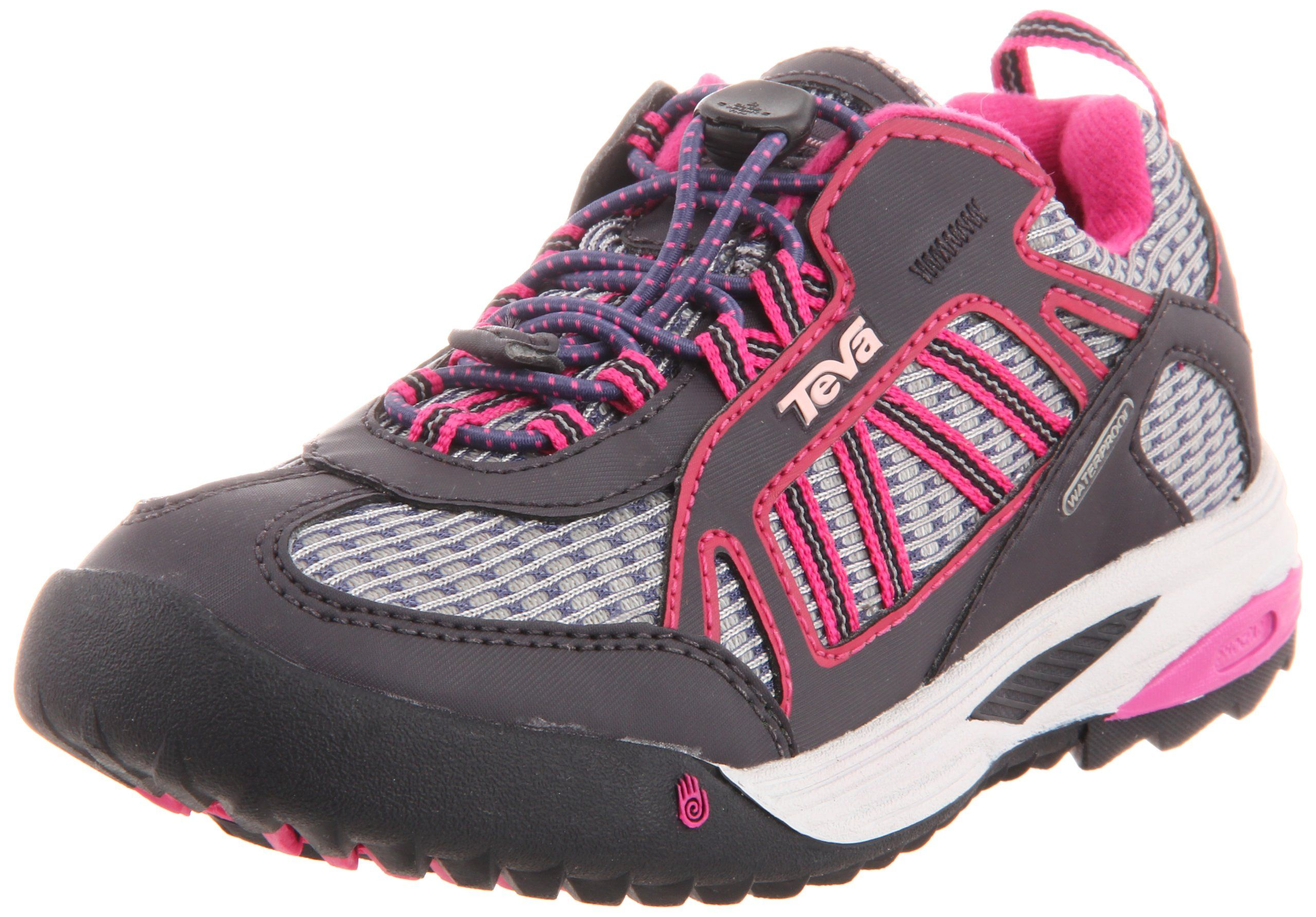 Teva Charge Hiking Shoe (Toddler/Little Kid/Big Kid),Pink,3 M US Little Kid. Teva waterproof membrane. Spider365 rubber outsole. Single-pull lacing system.