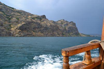 Sea walk to Karadag volcano (Crimea, Ukraine, Summer 2011)